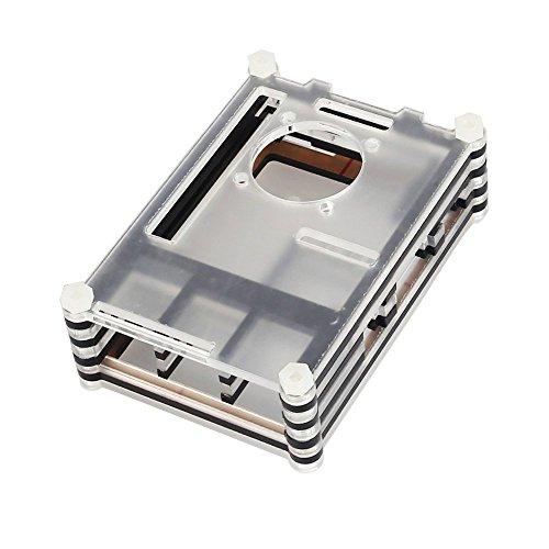 [해외]Rsapberry Pi 2 Raspberry Pi 3 모델 B 용 SainSmart 투명 슬라이스 아크릴 케이스 쉘/SainSmart Transparent Sliced Acrylic Case Shell for Rsap