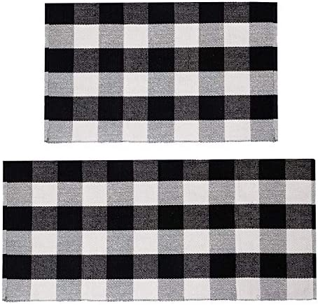 U Artlines Buffalo Plaid Rug