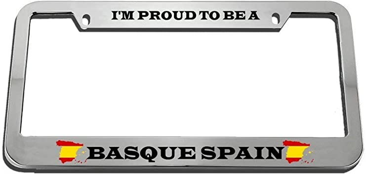 I/'M Proud To Be A Basque License Plate Frame Tag Holder