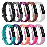 SnowCinda Compatible with Fitbit Ace Bands/Fitbit Alta HR Bands/Fitbit Alta Bands, 3 Size Classic Soft Silicone Replacement Strap Sport Wristbands with Secure Metal Buckle for Kids Women Men
