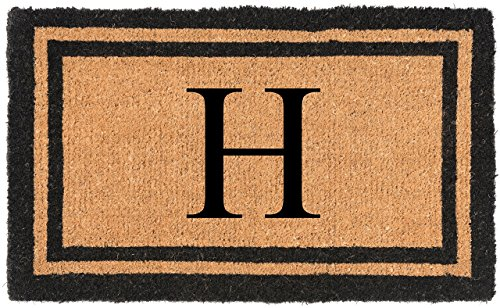 Nance Industries YourOwn Monogrammed Welcome Mat Insert Letter Variation, 22