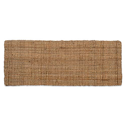 "Neutral Eco-Friendly Sturdy Rolled Natural Indoor/Outdoor Jute Rug, 22x60"", Reversible for double the wear-Gold"