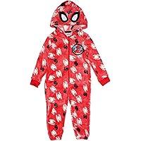Marvel Spiderman Boys Glow in The Dark Pyjamas Hoodie All in One PJs