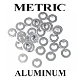 QTY 200 Metric Size M6 x 12 Aluminum Seal Ring Washers Made in Germany