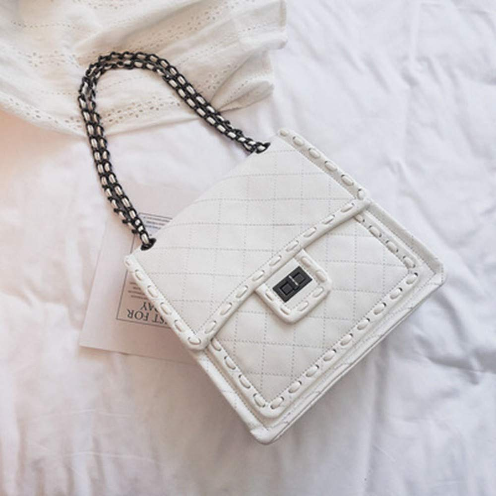 XLMLJYX Women Messenger Bags Luxury Shoulder Bag Quilted Designer Handbags Women Bag Vintage Small Crossbody Bags