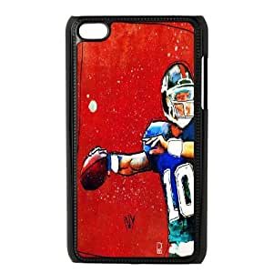 Wlicke Eli Manning High Quality Durable Ipod touch 4 Case, Personalised Protective Cover Case for Ipod touch 4 with Eli Manning