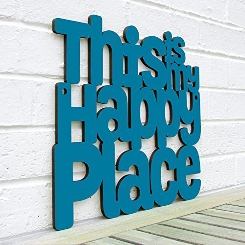 This Is My Happy Place - Inspiring Sign - Wood Wall Art For The (Painted Wood Sign)