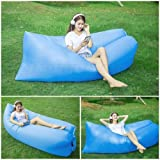 Airbed Outdoor Portable Inflatable Bed Lounger Sleeping Sofa Couch Hammock Lazy Mattress for Travelling, Camping, Beach, Park, Backyard, Camping Hiking, Portable Carry Bag