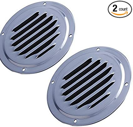 2x Louvre Air Vent Stainless Steel Louvered Ventilation Ventilator Cover