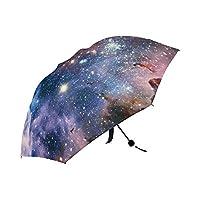Nebula Galaxy Space Universe Automatic Foldable Umbrella Compact Parasol Umbrella Umbrella Windproof Rainproof
