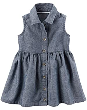 Baby Girls' Chambray Shirt Dress