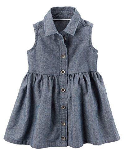 Carters Girls Chambray Shirt Dress