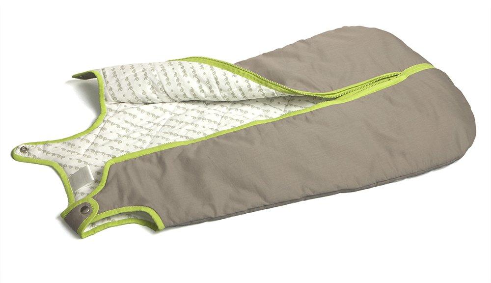 Baby Deedee Sleep Nest Baby Sleeping Bag, Khaki/Lime Green, Small (0-6 Months)