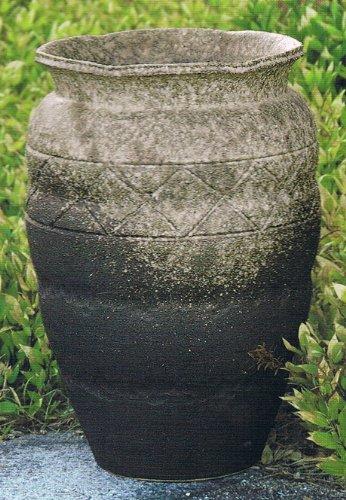 古窯変織部流し壷型花瓶 18号 信楽焼 陶器 花器 花入 花瓶 B009QXUJIK