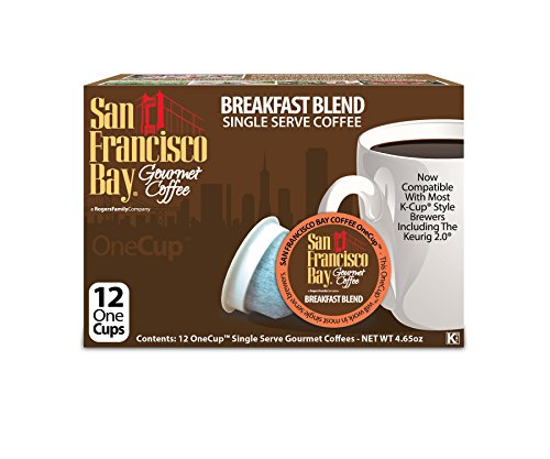 San Francisco Bay OneCup, Breakfast Blend, 12 Count- Single Serve Coffee, Compatible with Keurig K-cup - Bay Online Brands