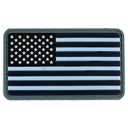 LIVABIT PVC Rubber 3D Morale Patch MP-21 Tactical Airsoft Paintball USA Flag Navy Blue