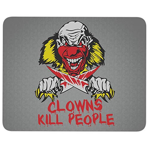 Halloween Serial Killer Clown Premium-Textured Mouse pad, Clowns Kill People Mouse Pad for Home, Office, Game, Computer, Laptop (Mouse Pad - Dark Gray) -