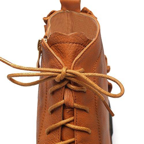 Minivog Donna Boot Boot Stivaletti Alla Caviglia Per Escursionismo Outdoor Con Zip Alta Marrone