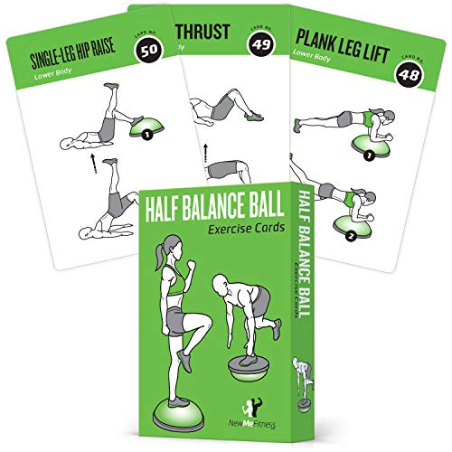 Half Balance Ball Exercise Cards product image