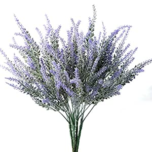 ASSR Artificial Flowers,5 Bundles Lavender Fake Flowering Branches Display Wedding, Home Decor, Office, Patio 79