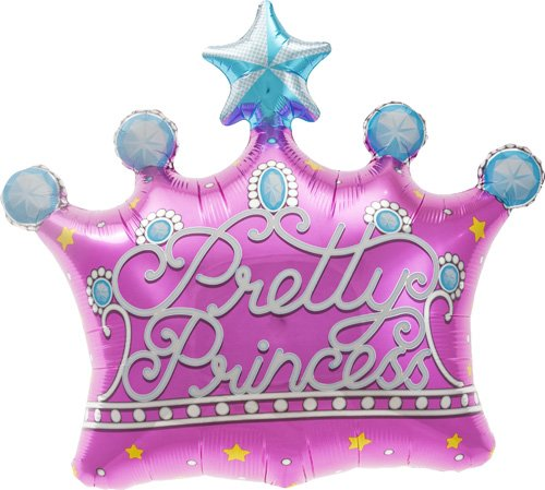 Northstar Balloons Pretty Princess Crown Helium Foil Balloon - 25 inch