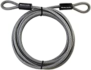 Master Lock 72DPF Heavy Duty Cable, 15 Feet Braided Steel, 3/8-Inch Diameter, Black