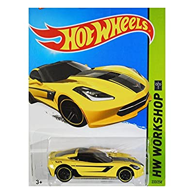 Hot Wheels 2015 HW Workshop '14 Corvette Stingray 233/250, Yellow: Toys & Games
