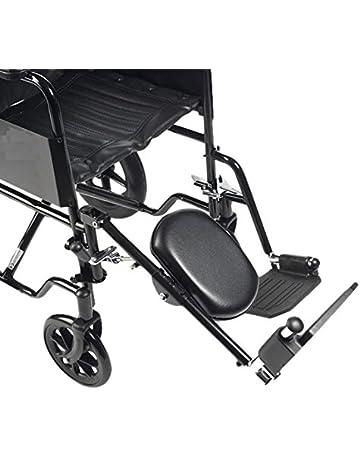 Drive Medical ELR001R - Reposapiernas con reposapiés para la pierna derecha (acero)
