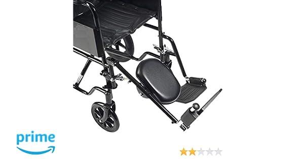 Drive Medical ELR001R - Reposapiernas con reposapiés para la pierna derecha (acero): Amazon.es: Salud y cuidado personal