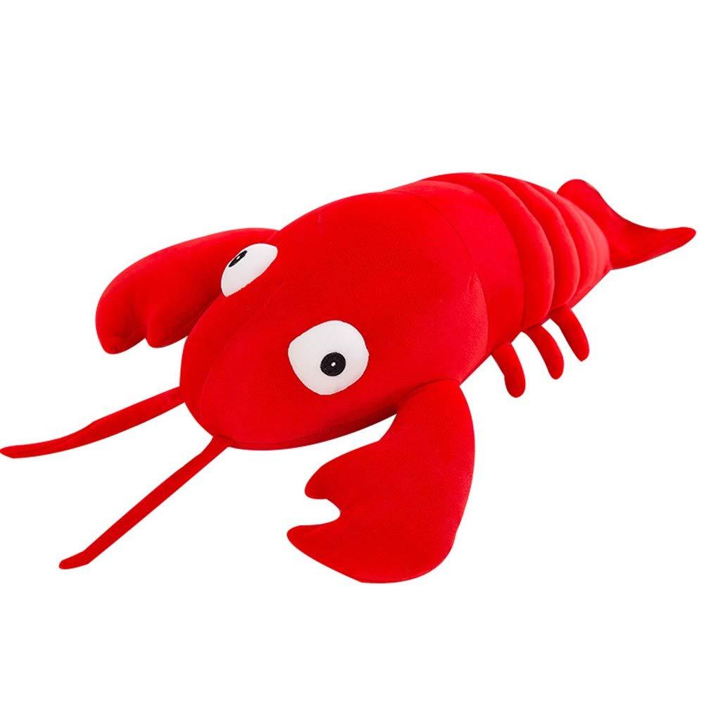 60cm LAIBAERDAN Plush Toy Down Cotton Big Lobster Pillow Large Ragdoll Doll Gift, 60Cm