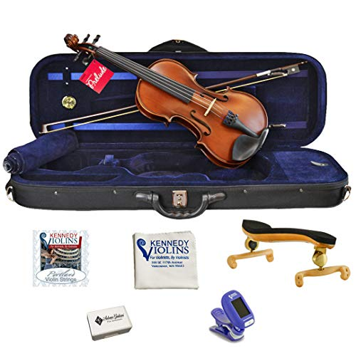 Antonio Giuliani Etude Violin Outfit 4/4 Full Size with Shoulder Rest, Tuner, Rosin and Extra Strings from Kennedy Violins