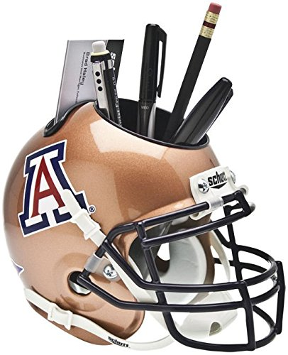 Wildcats Ncaa Desk (Schutt NCAA Arizona Wildcats Helmet Desk Caddy, Copper)