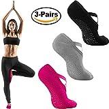 Yoga Socks for Women, Anti-Skid Slipper Socks, Non-Slip Socks with Grips For Pilates, Ballet, Barre Exercises And Dance