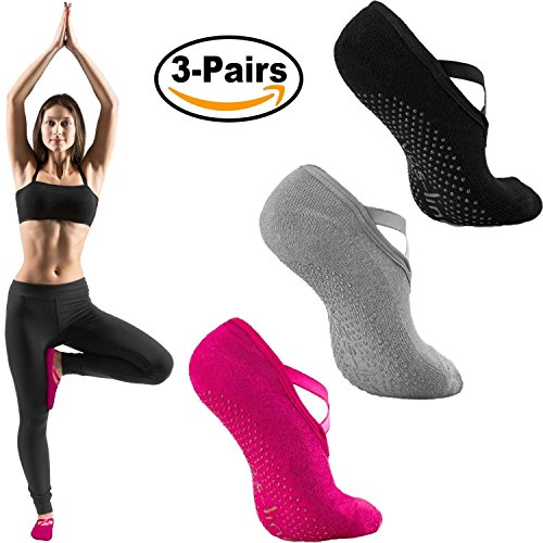 Yoga Socks for Women, Anti-Skid Slipper Socks, Non-Slip Socks with Grips For Pilates, Ballet, Barre Exercises And Dance by vgs-line