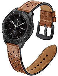 22mm Watch Band, 20mm Watch Band, OXWALLEN Watch Band Leather Quick Release Soft Watch Strap Brown/Black (22mm, Brown)