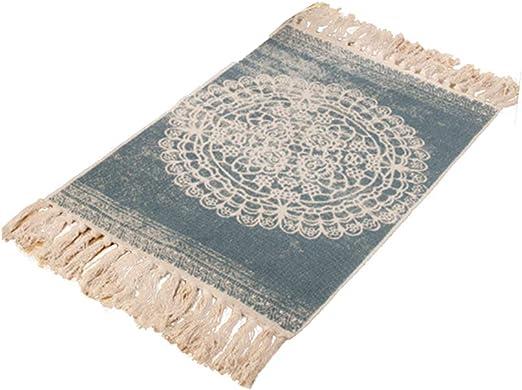 Sumshy - Alfombra de algodón Boemo con borla, vintage, alfombras ...