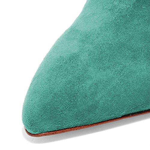 Fsj Kvinner Skli På Lukket Tå Muldyr Faux Suede Sandaler Stiletto Høye Hæler Klassiske Sko Størrelse 4-15 Oss Turkis