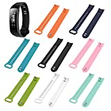 Liobaba Watch Strap Soft Silicone Wristwatch Band Quick Release Watch Band Replacement for Huawei Honor3 Smart Watch