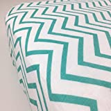 Bambino Land Crib Sheet - Pattern (Chevron Teal)