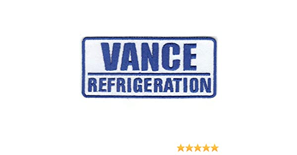 Vance Refrigeration Appliance Company Sign Logo Embroidered Iron On Patch