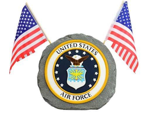 Red Carpet Studios Patriotic Military Garden Stone, Air Force ()