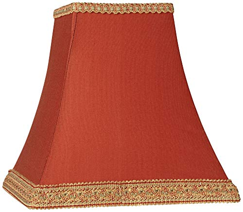 Rust Square Sided Lamp Shade 5x10x9 (Spider) - Springcrest (Shade Table Lamp Beaded Red)