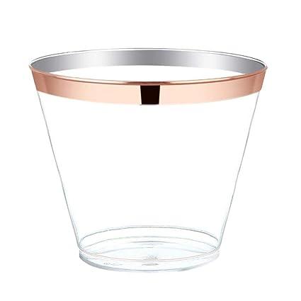 Vasos de Papel desechables25pcs Vajilla Plástico Fiesta De ...