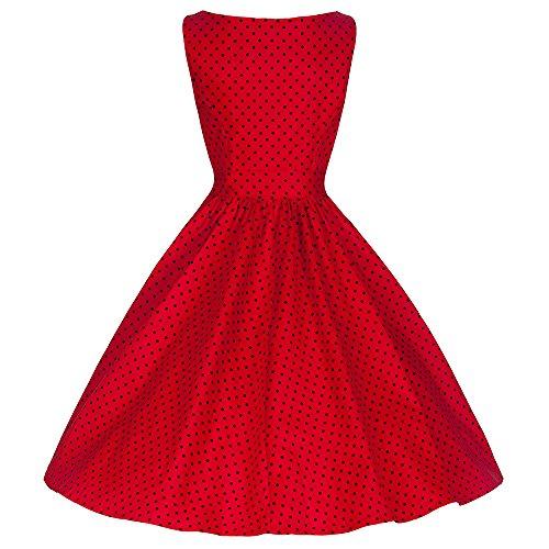 Pretty Kitty Rot Scwartz gepunkteten Kleid