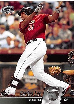 26f6fc10ce8 Amazon.com  2010 Upper Deck Baseball  225 Carlos Lee Houston Astros MLB  Trading Card  Collectibles   Fine Art