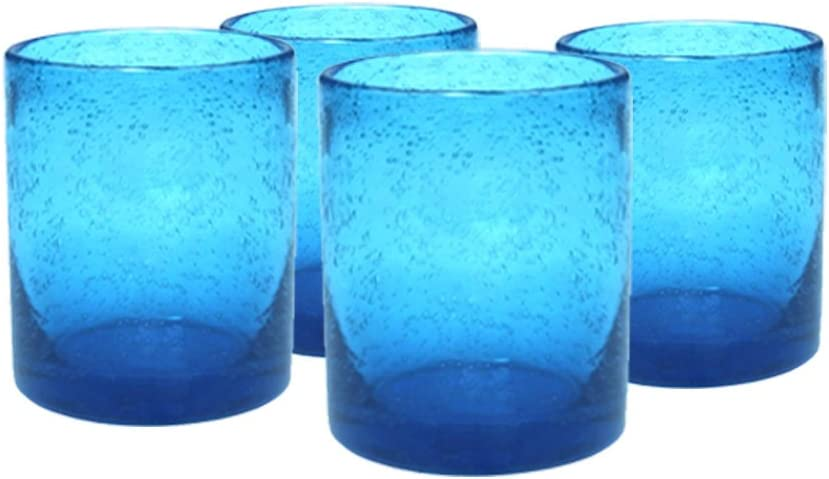 Artland Iris Double Old Fashioned Glass (Set of 4), Turquoise