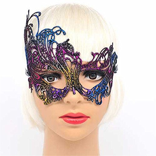 Face mask Shield Veil Guard Screen Domino False Front Antique Gold-Plated Lace mask mask Makeup Dance Party Show mask Movie Show Wedding Props Color by PromMask