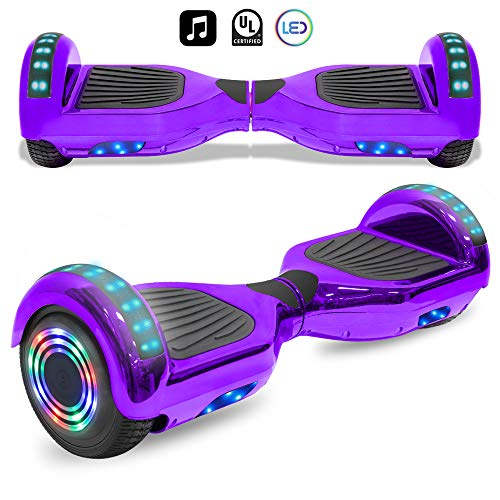 cho Electric Smart Self Balancing Scooter Hoverboard Built-in LED Wheels Side Lights- UL2272 Certified (_Chrome Purple)