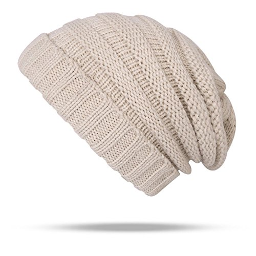 4b2d81932 Beanie Hat Warm Winter Soft Stretch Cable Knit Funky Beanie Skully Women Men