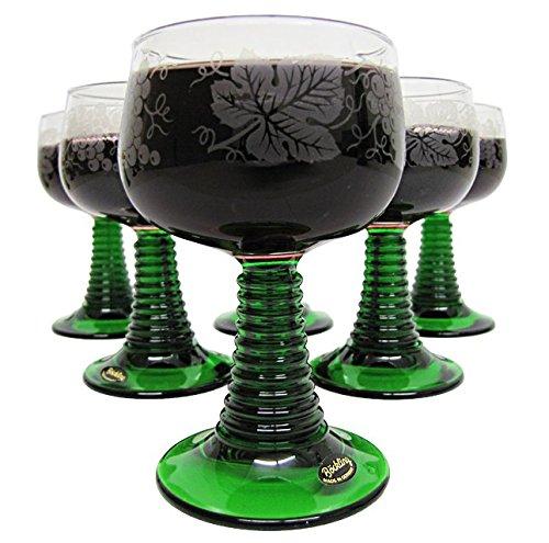 Wein Römer - German Wine Glass Set (6) - White Grapes .1L